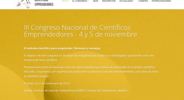 Nueva edición del Congreso Nacional de Científicos Emprendedores