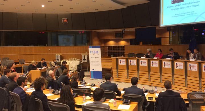 Presentados en Bruselas los resultados del proyecto E-QUA (Erasmus Quality Hosting Framework)