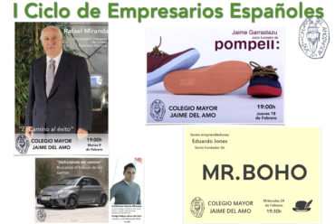 """Ciclo de Conferencias """"empresarios españoles"""" en el CMU Jaime del Amo."""