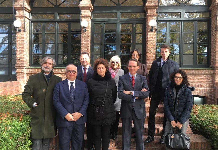 Una delegación de Directores de los colegios mayores italianos visitan Madrid.